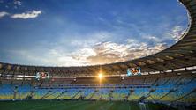 Inside Maracana Stadium, Rio de Janeiro, Brazil