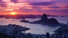 Pao de Acucar (Sugarloaf Mountain) at Sunset, Rio de Janeiro, Brazil