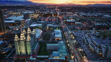 City at Sunset, Salt Lake City, Utah, United States