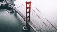 Aerial Shot of Golden Gate Bridge, San Francisco, California, United States