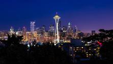 Skyline and Space Needle, Seattle, Washington, United States