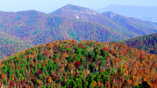 Overlooking the Blue Ridge Mountains, Shenandoah National Park, Virginia, United States