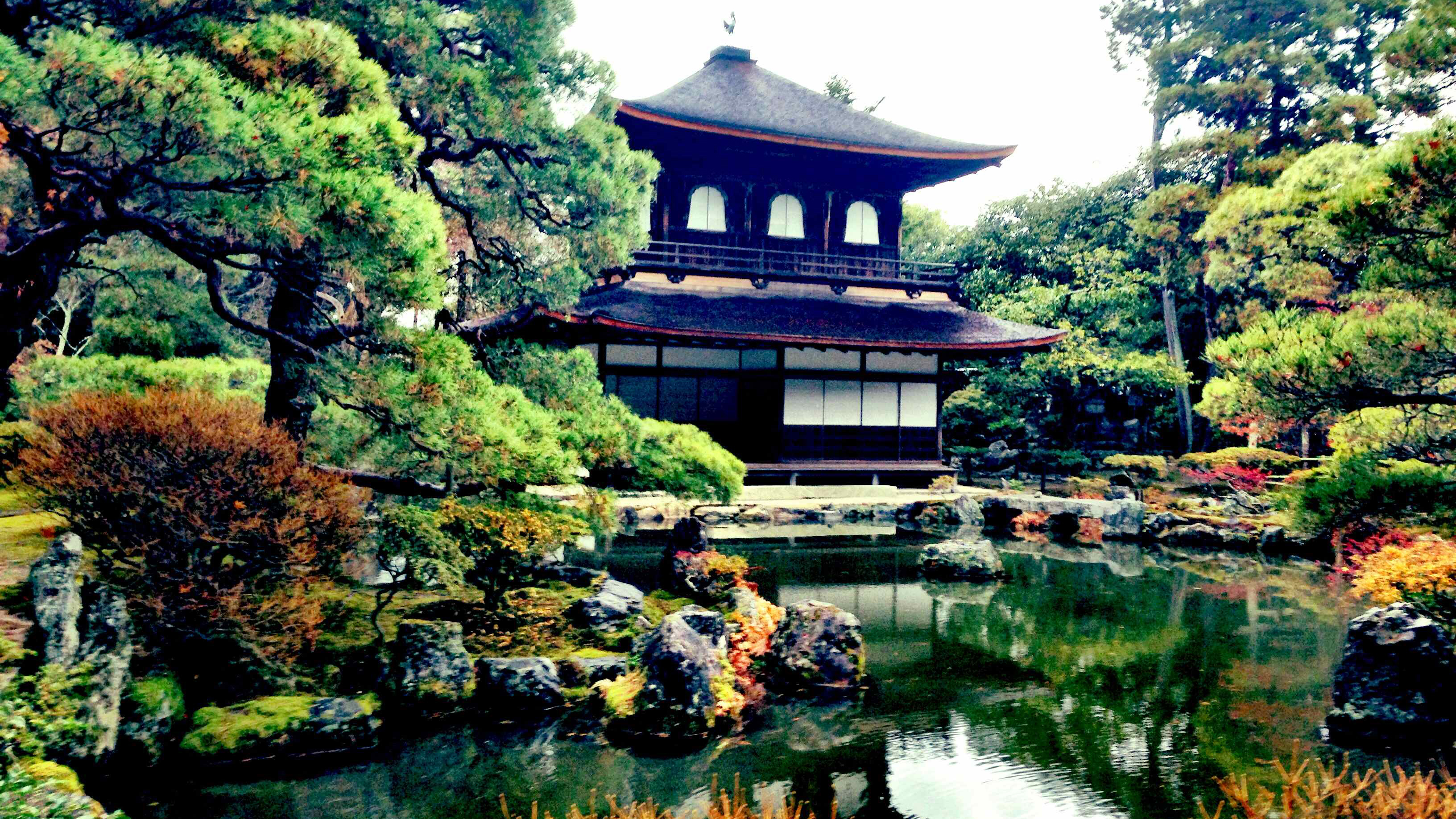 Kyoto Japan Ginkaku Ji Silver Pavilion Temple Zen Garden