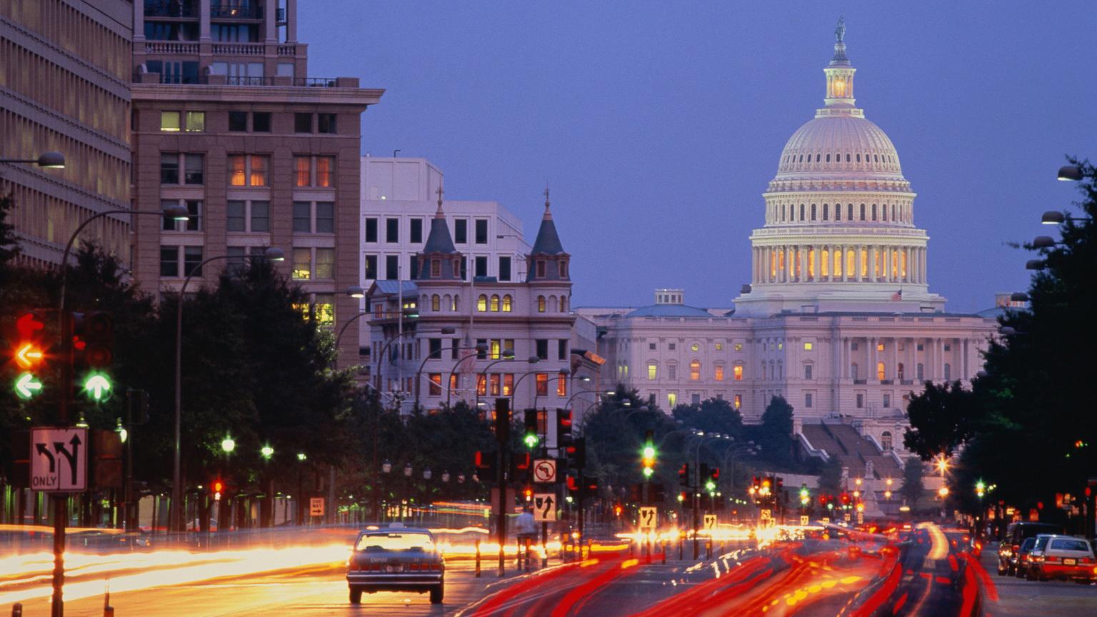 Capitol at Night, Washington DC, United States