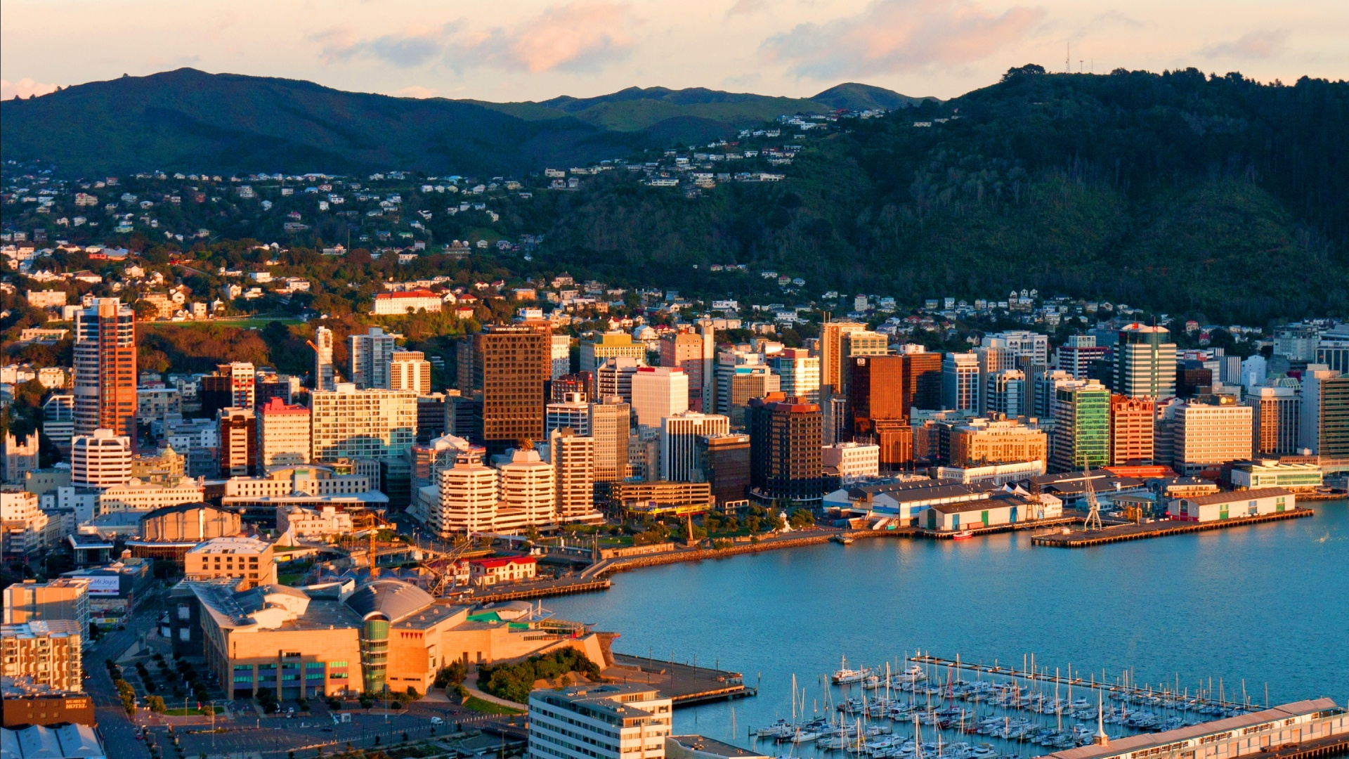 City at Sunset, Wellington, New Zealand